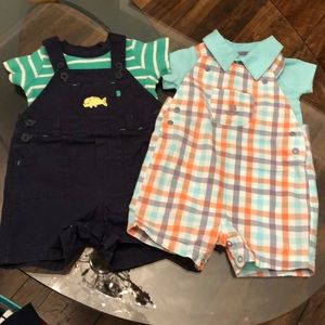 Bundle of 2 Carter's 9 Month Boy Overall Set